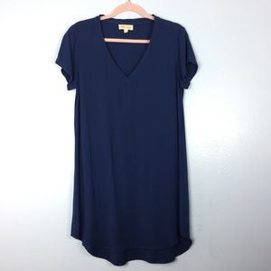 Anthropologie Cloth & Stone Navy Shirt Dress Small